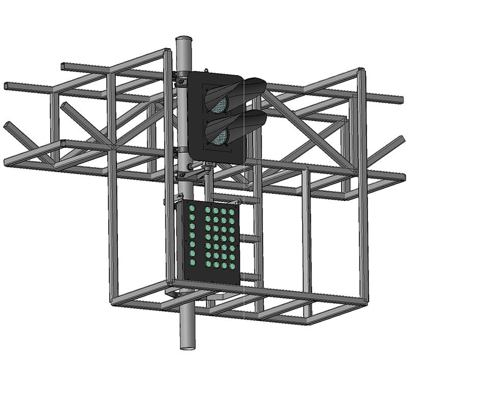 Светофоры двухзначные светодиодные на мостиках и консолях