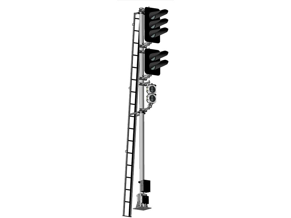 Светофоры мачтовые четырехзначные