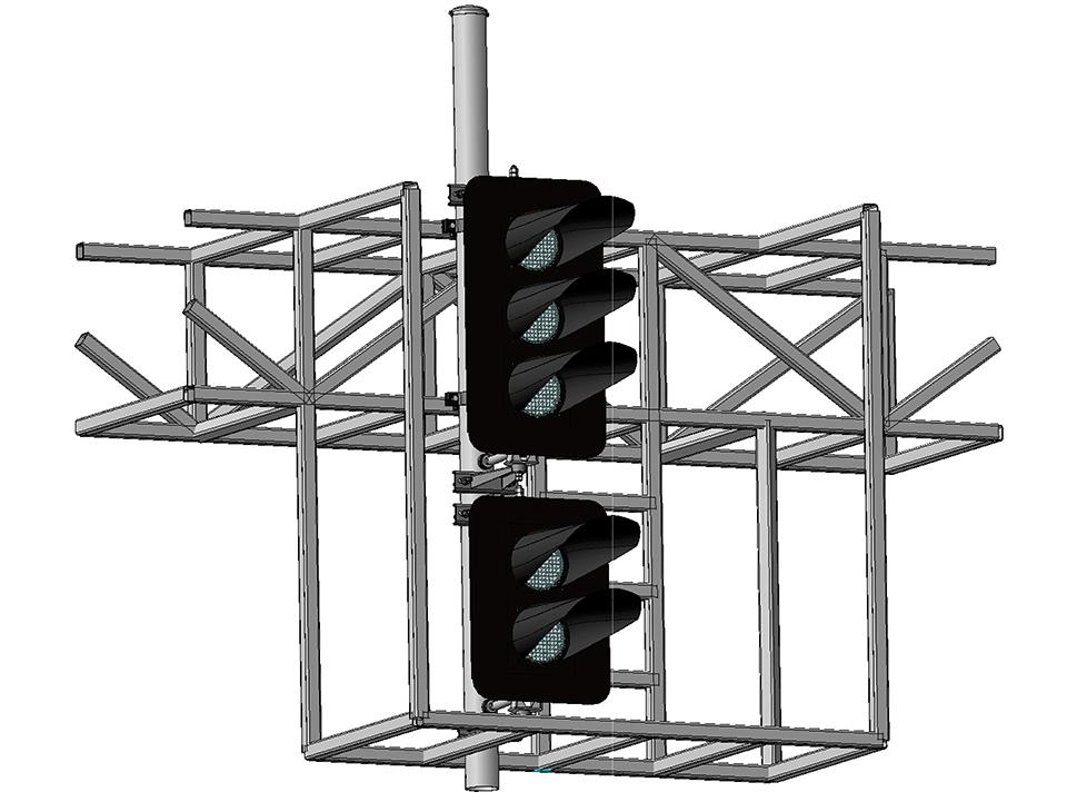 Светофоры пятизначные светодиодные на мостиках и консолях
