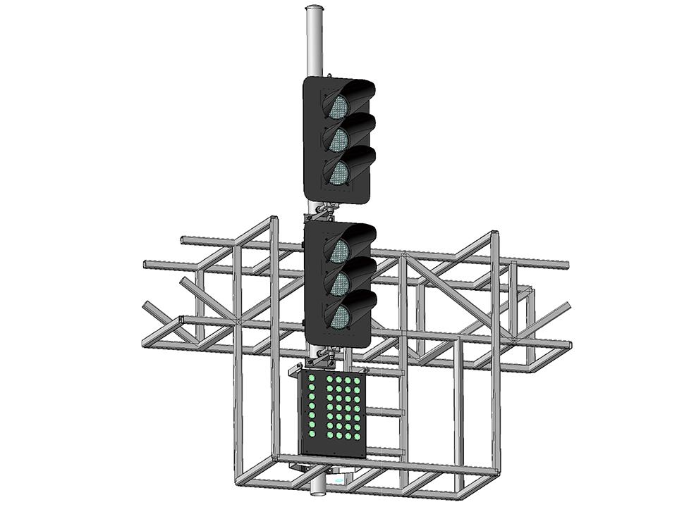 Светофоры шестизначные светодиодные на мостиках и консолях