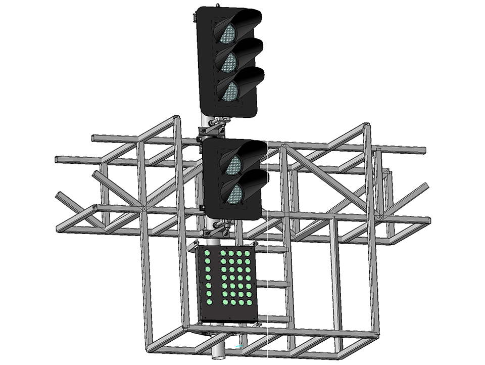 Светофор пятизначный светодиодный с МУ на мостиках и консолях 17976-00-00