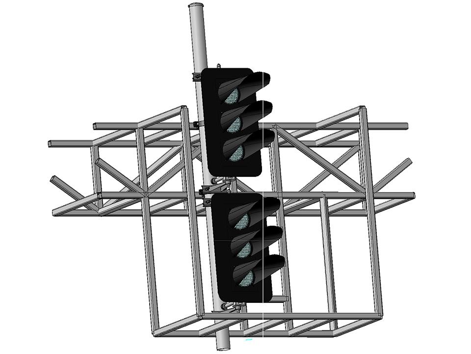 Светофор шестизначный светодиодный на мостиках и консолях 18042-00-00